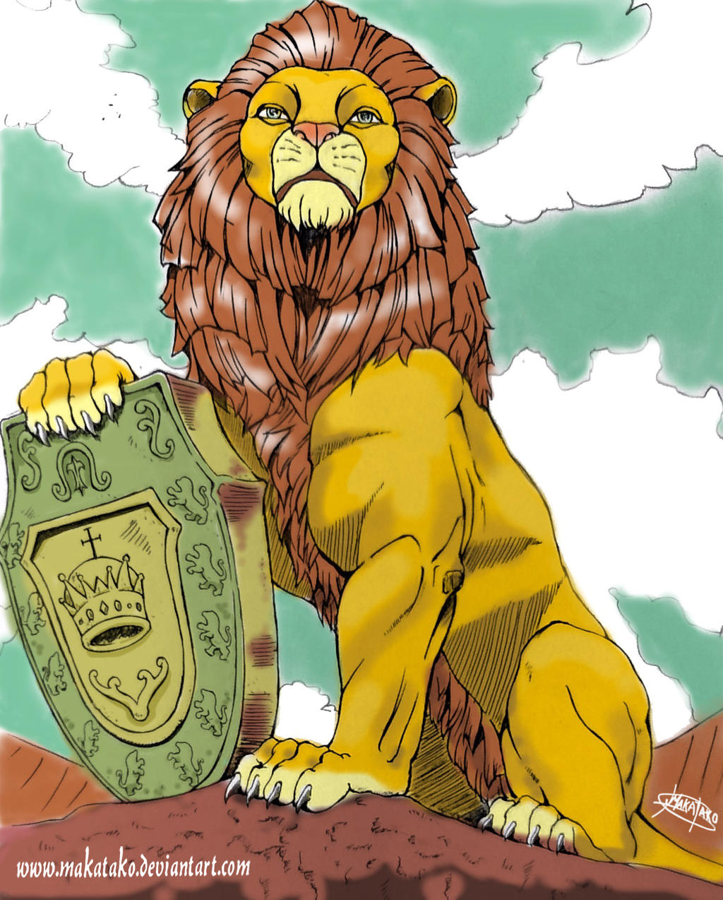 Lion king with crown - photo#13