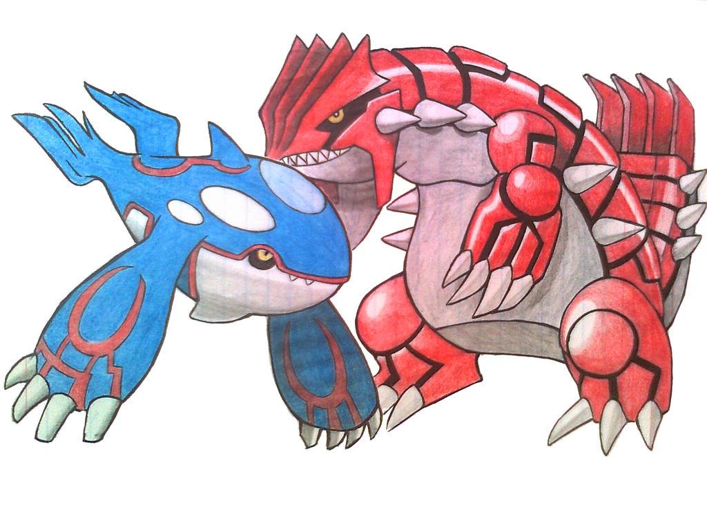 Groudon kyogre of pokemon emerald the legendary by makatako on deviantart - Pokemon platine legendaire ...