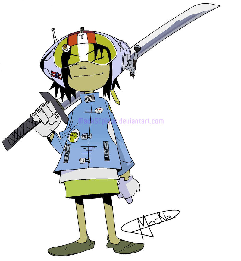 2d Gorillaz Phase 1 Noodle phase 1 (ms paint) by Images ...