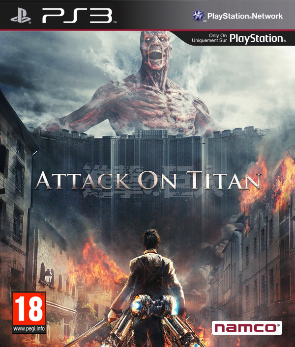 Attack on Titan PS3 cover by RudeDudeKB
