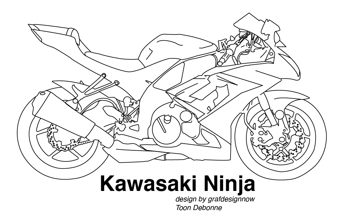 ninja motorcycle coloring pages - photo#24