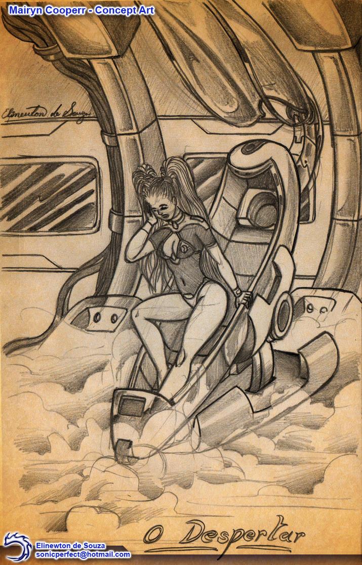 Mairyn Cooperr - Sketch 007 by Elinewton