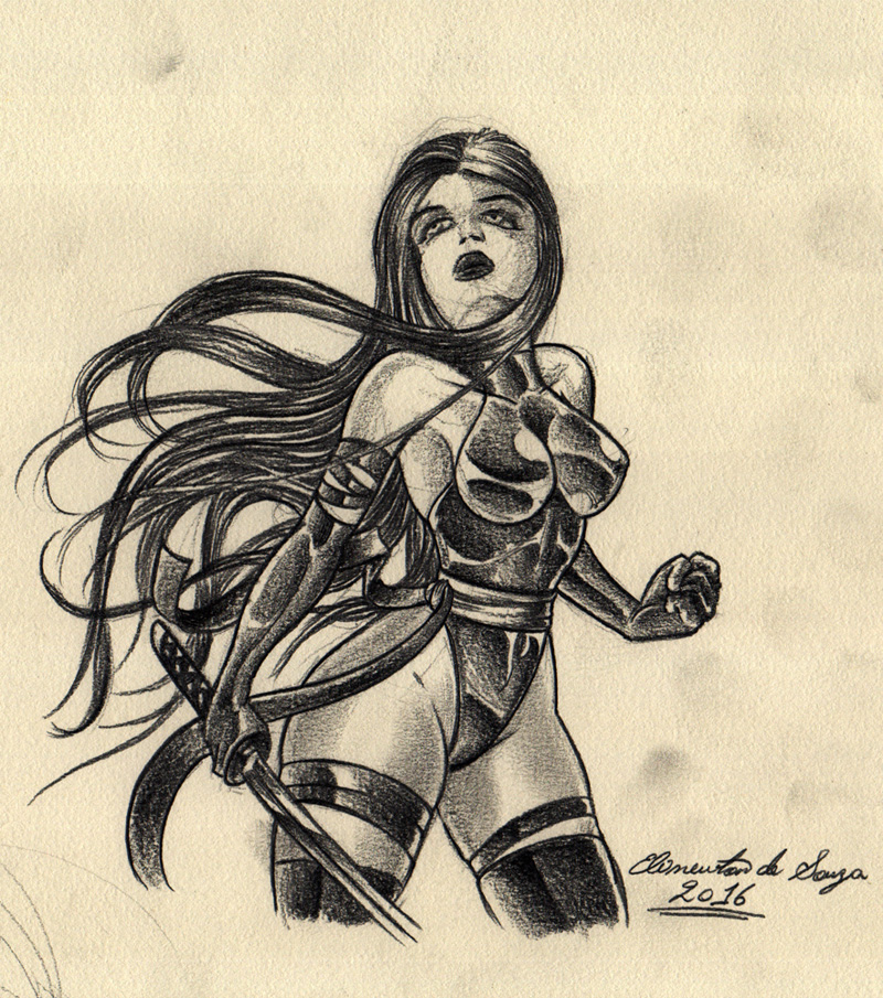 Psylocke (Sketch) by Elinewton
