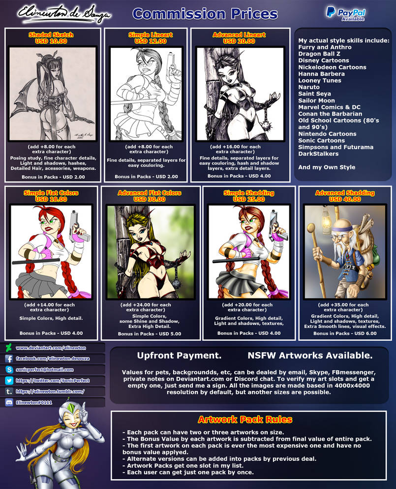 Commission Prices (Detailed)