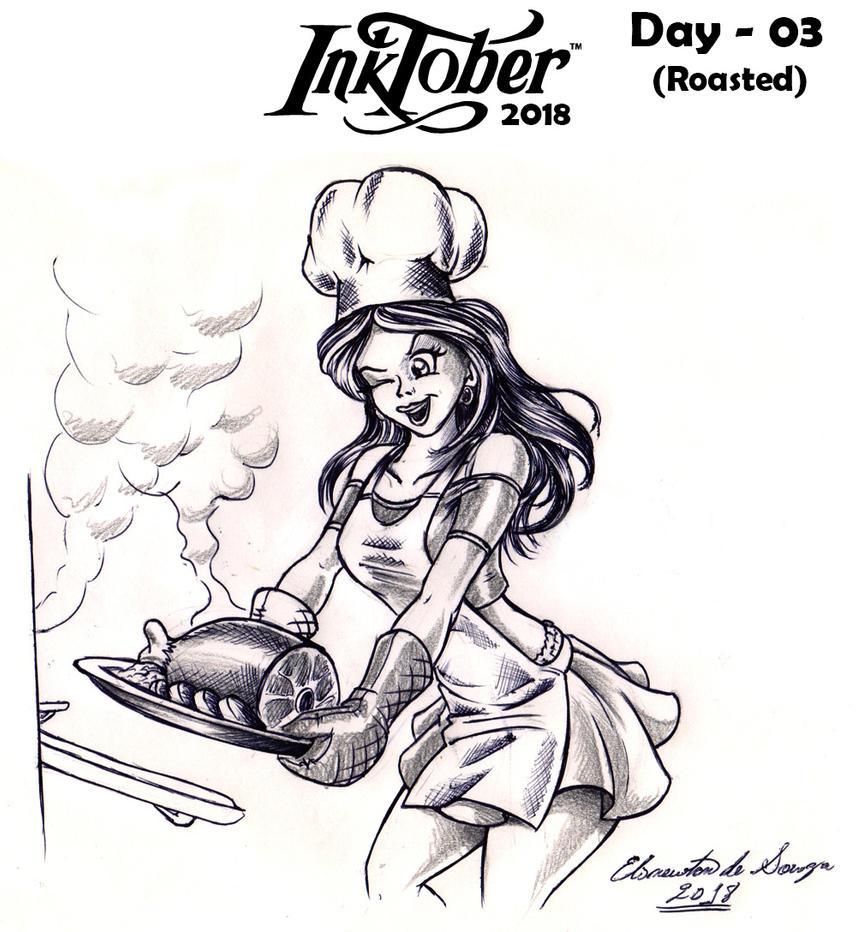 InkTober 2018 - 03 by Elinewton