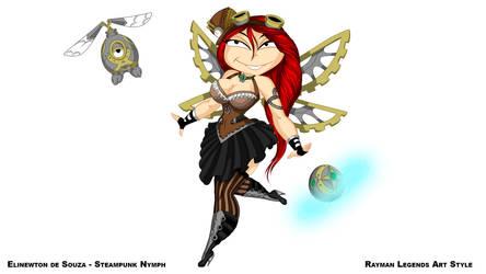 Rayman Legends Style - A Steampunk Nymph by Elinewton