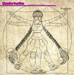 Pose Da Semana 009 - Vitruvian Gabrielle