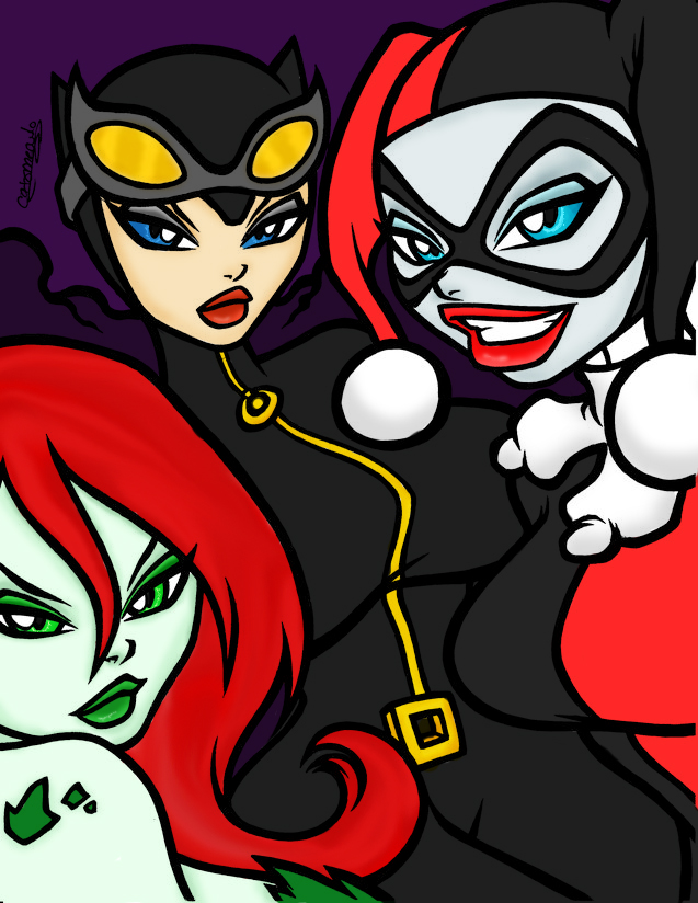 Gotham City Sirens Colored by water-pixie-edd