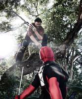 Wolverine Vs Deadpool by IamTheWolverine