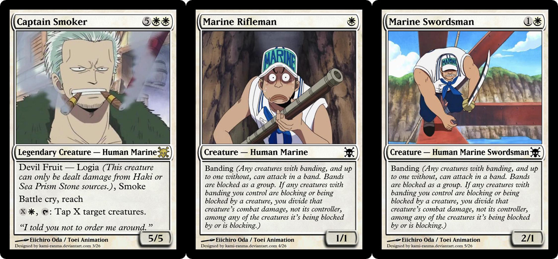 One Piece Magic Set 3 Marines By Kami Ranma On Deviantart