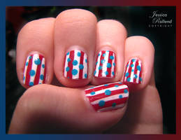 4th of July Nails by JRollendz