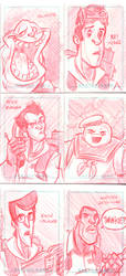 GhostBusters Sketch Cards by DanSchoening