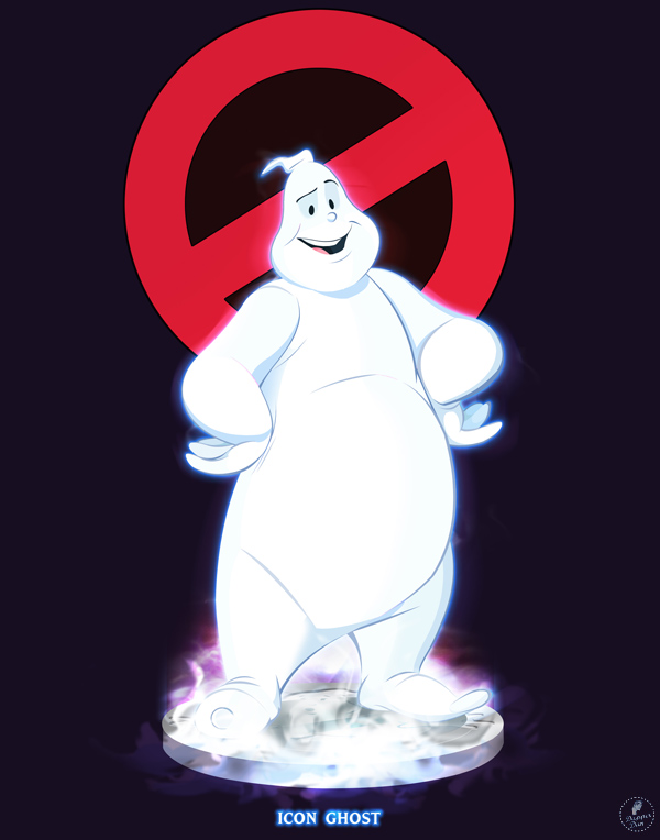 Ghostbusters - Icon Ghost by DanSchoening