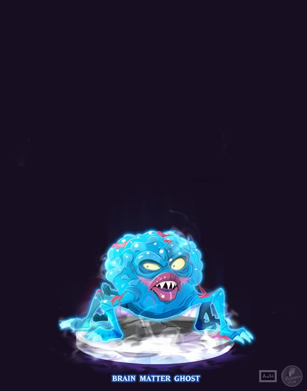 Ghostbusters - Brain Matter Ghost by DanSchoening