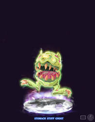 Ghostbusters - Stomach Stuff Ghost by DanSchoening