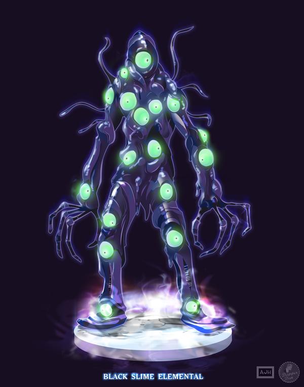 Ghostbusters - Black Slime Elemental by DanSchoening