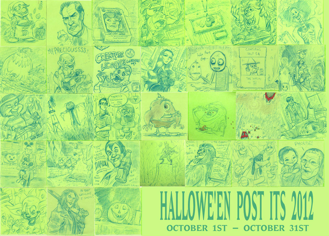 Halloween Post Its 2012 by DanSchoening