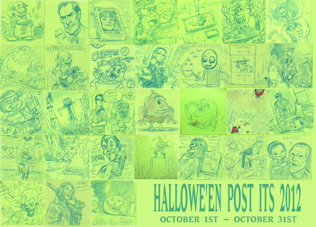 Halloween Post Its 2012 by DanSchoening