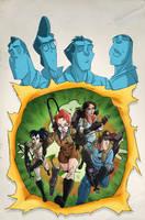 The New Ghostbusters #2 B-Side by DanSchoening