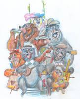 Bear Band Serenade by DanSchoening