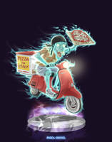 Ghostbusters - Pizza Ghoul by DanSchoening