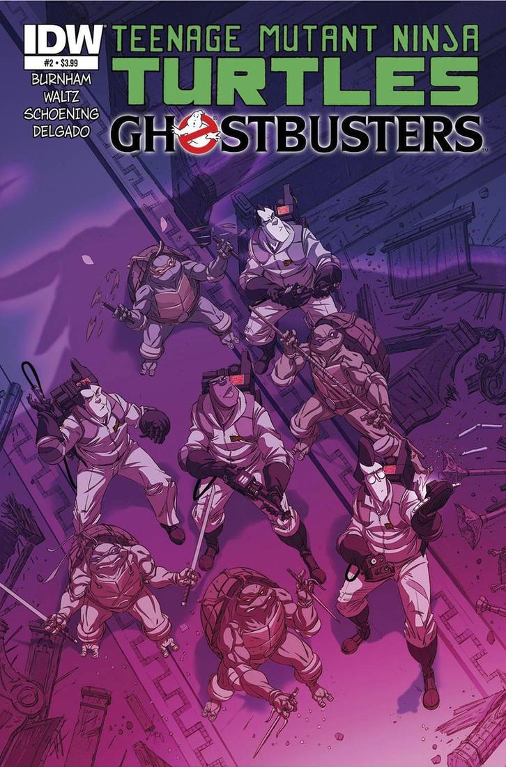 Teenage Mutant Ninja Turtles Ghostbusters #2 by DanSchoening