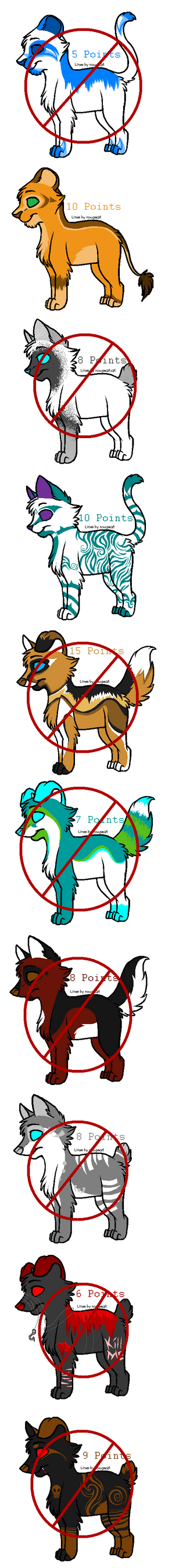 Mixed Animal Adopts -CLOSED- by flannelRaptors