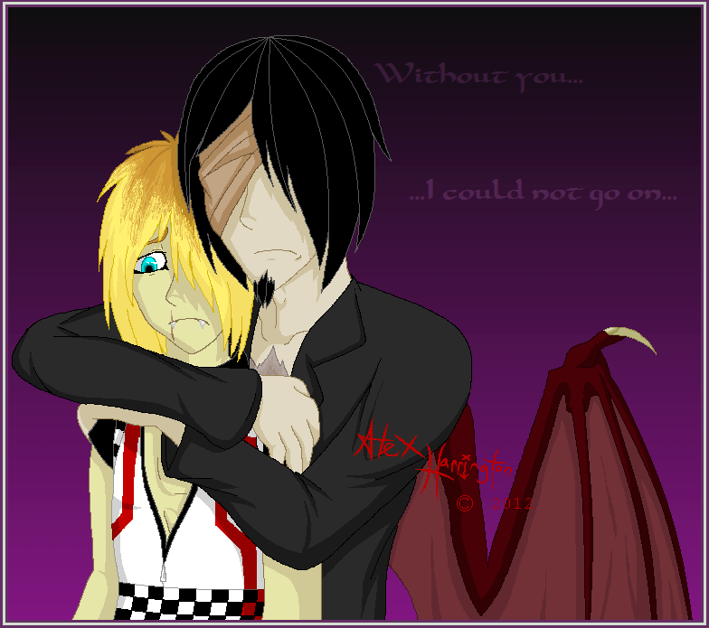 :kiriban Prize: Without You... by Vampiric-Massacre