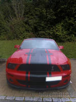 Red Shelby Cabrio Mustang by blueMALOU