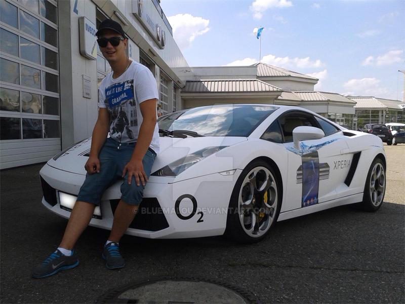Owner of this white  Lamborghini Sport car