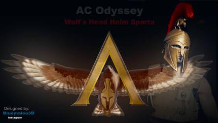 Assassins Creed Odyssey WOLF HEAD HELM SPARTA