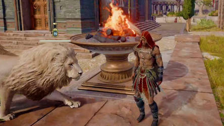 Alexios The Eagle Bearer and his Legendary Lion