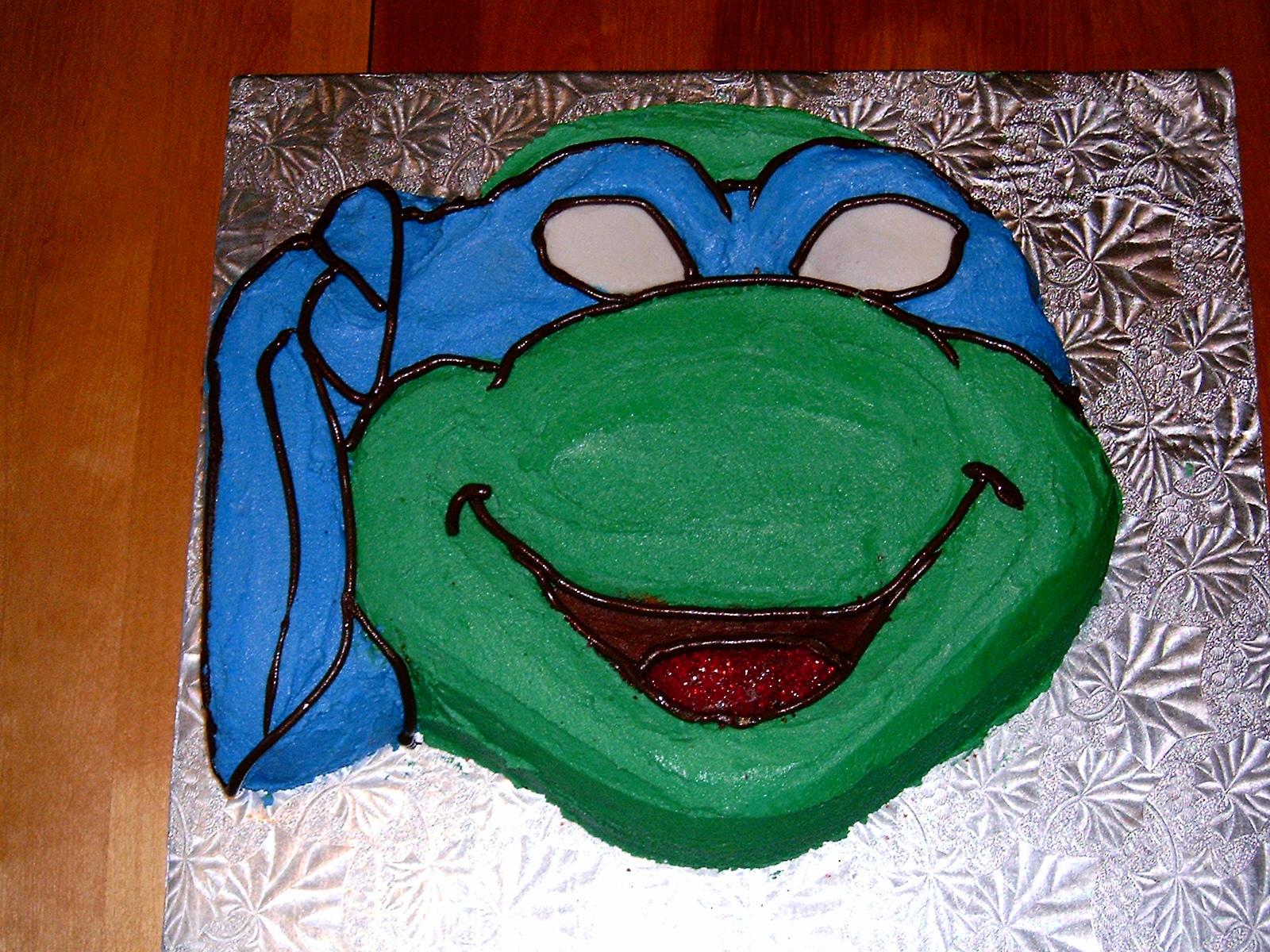 Ninja Turtle Head Cake Leonardo Ninja Turtle Cake