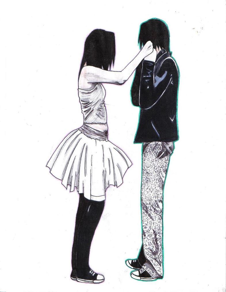 cute emo drawings tumblr random cute emo couple by