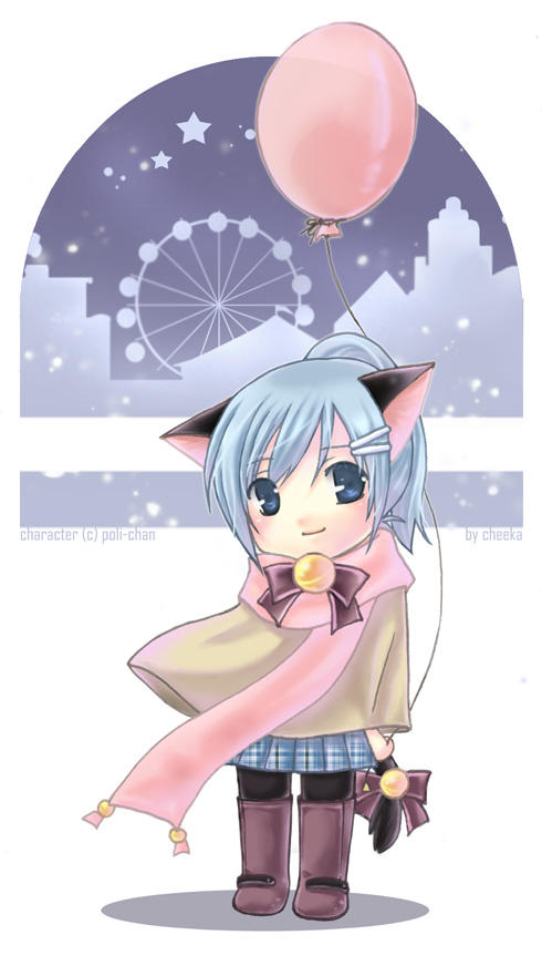 Comm : Poli-chan : Night Walk