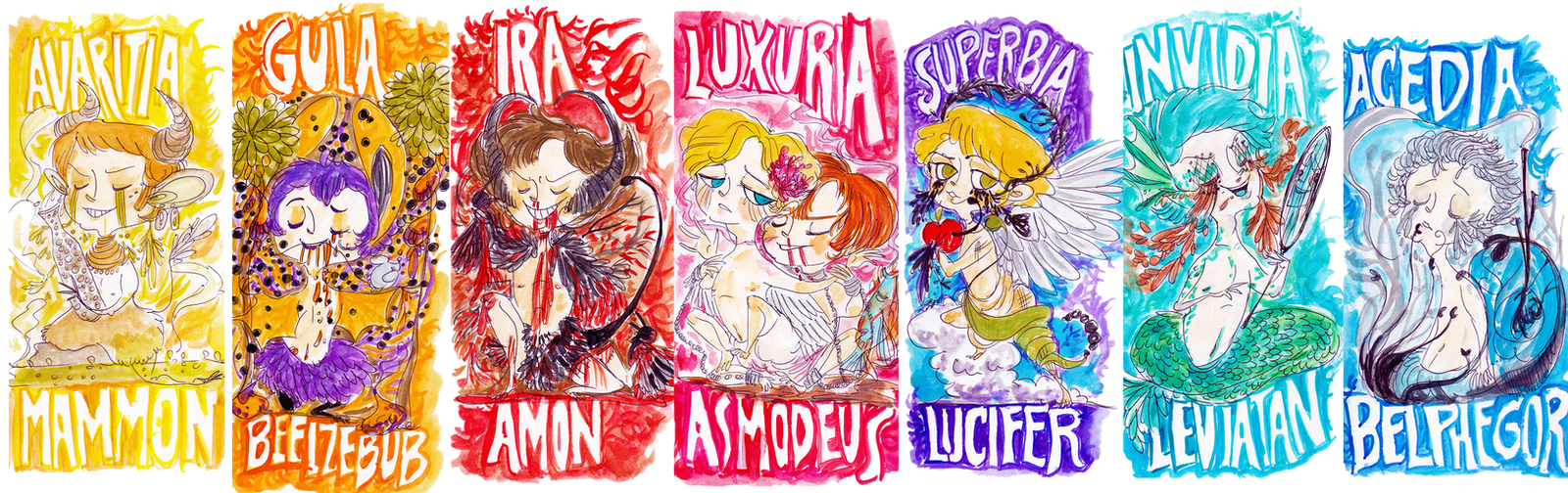 SEVEN DEADLY SINS by rompopita