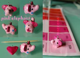 Pink Elephant Charm by Maecena