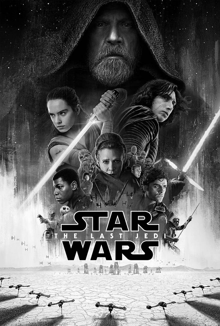 The Last Jedi Black White Wallpaper By Rikardholmqvist On Deviantart