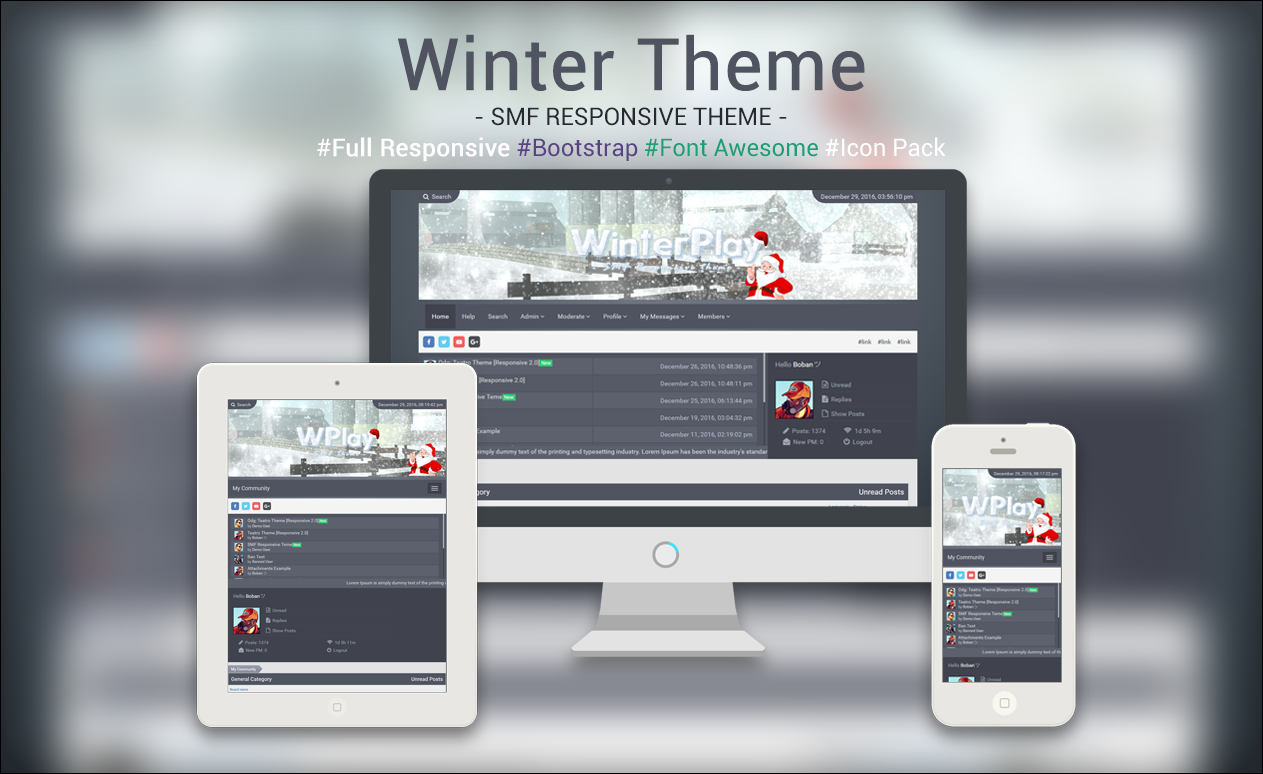 Winter Theme [Responsive 2.0] by Boban031