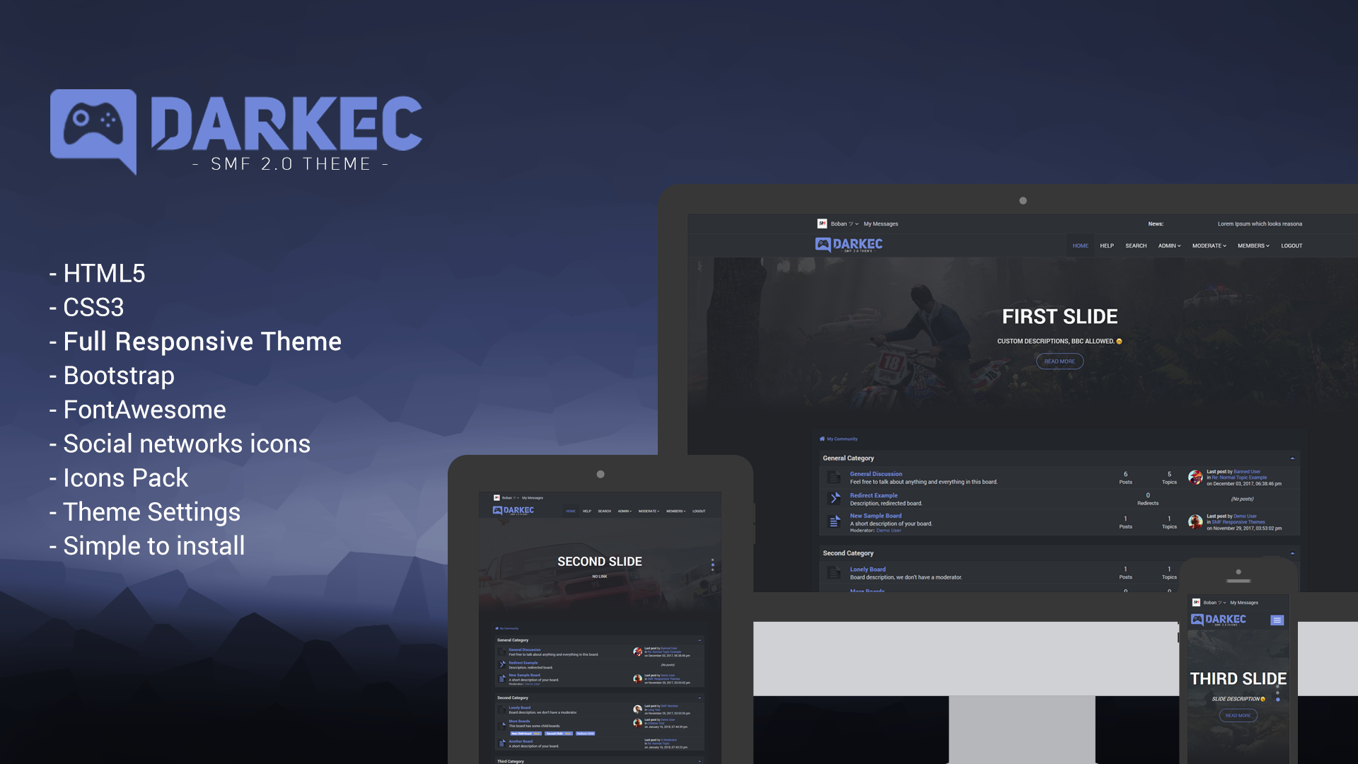 Darkec Responsive Theme