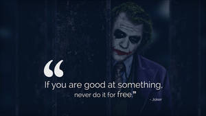If you are good at something, never do it for free