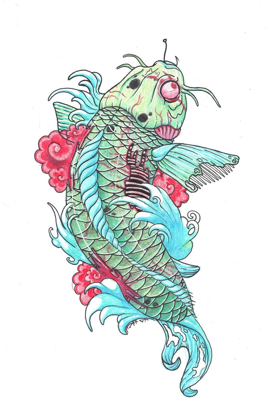 16 simple koi fish tattoo designs atom tattoo for Koi fish representation