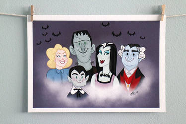 The Munsters   Print by CaptainChants