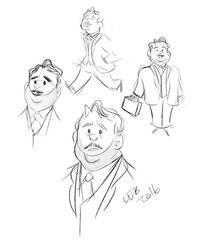Jacob Kowalski Sketches by CaptainChants