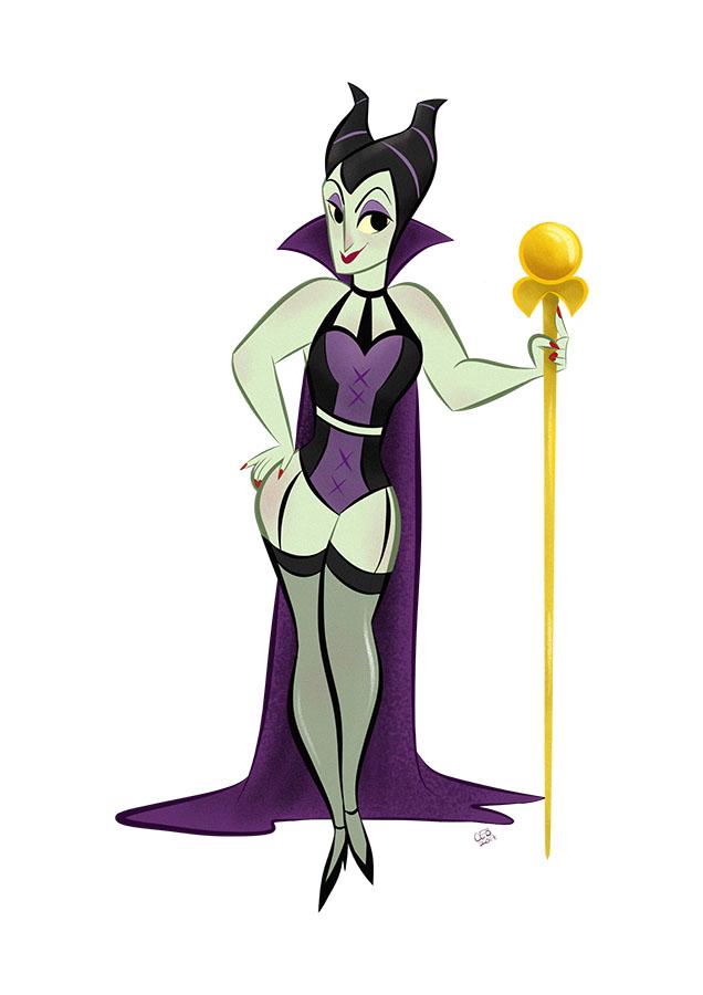 Maleficent - Villain Pin Up by CaptainChants