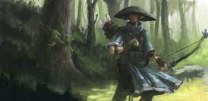 elven archer by onestepart