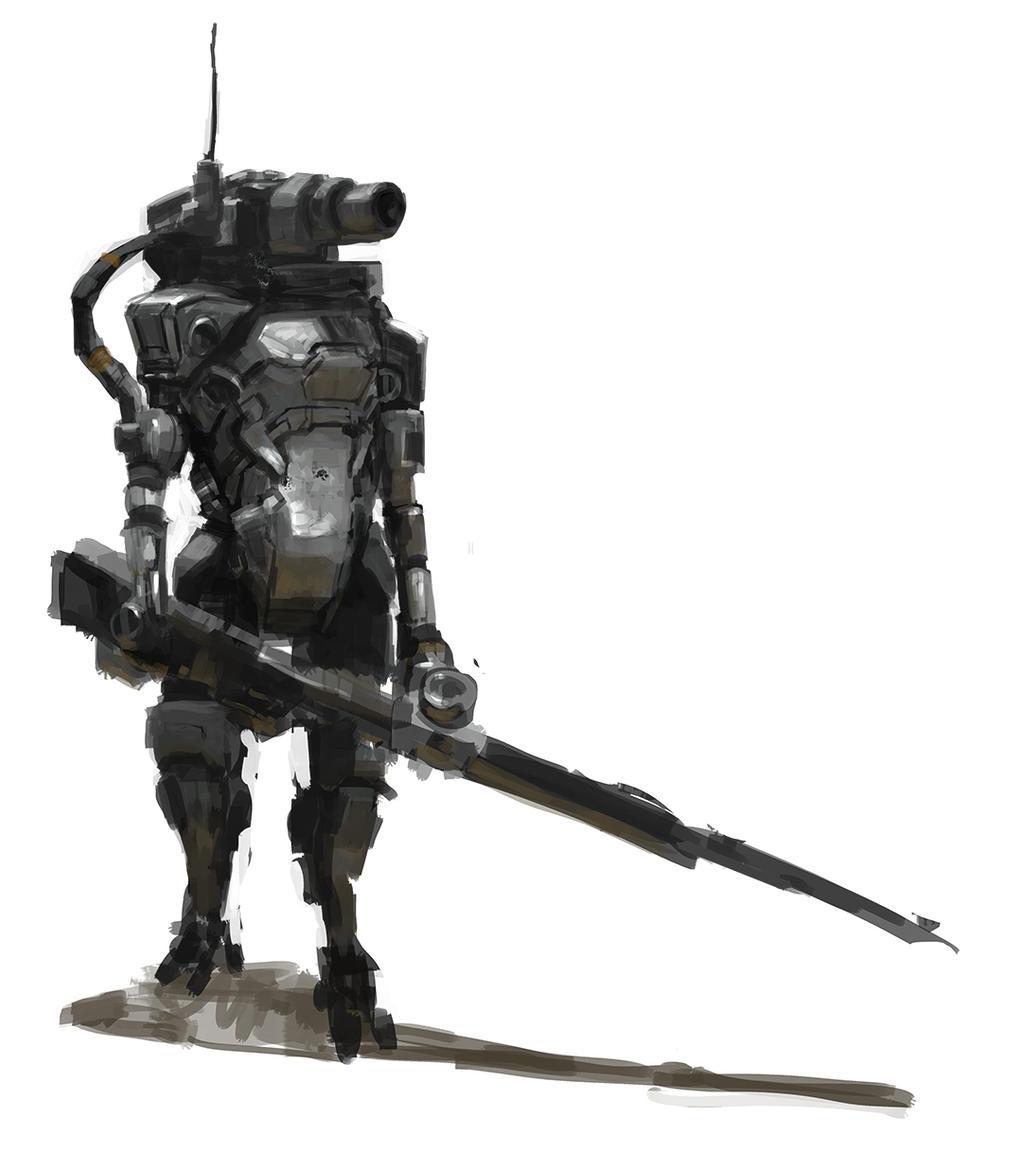 Gunmetal Knight 01 by onestepart