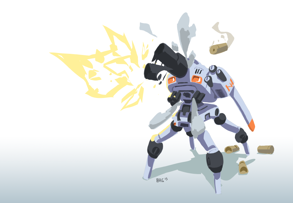 Cannon robot by onestepart