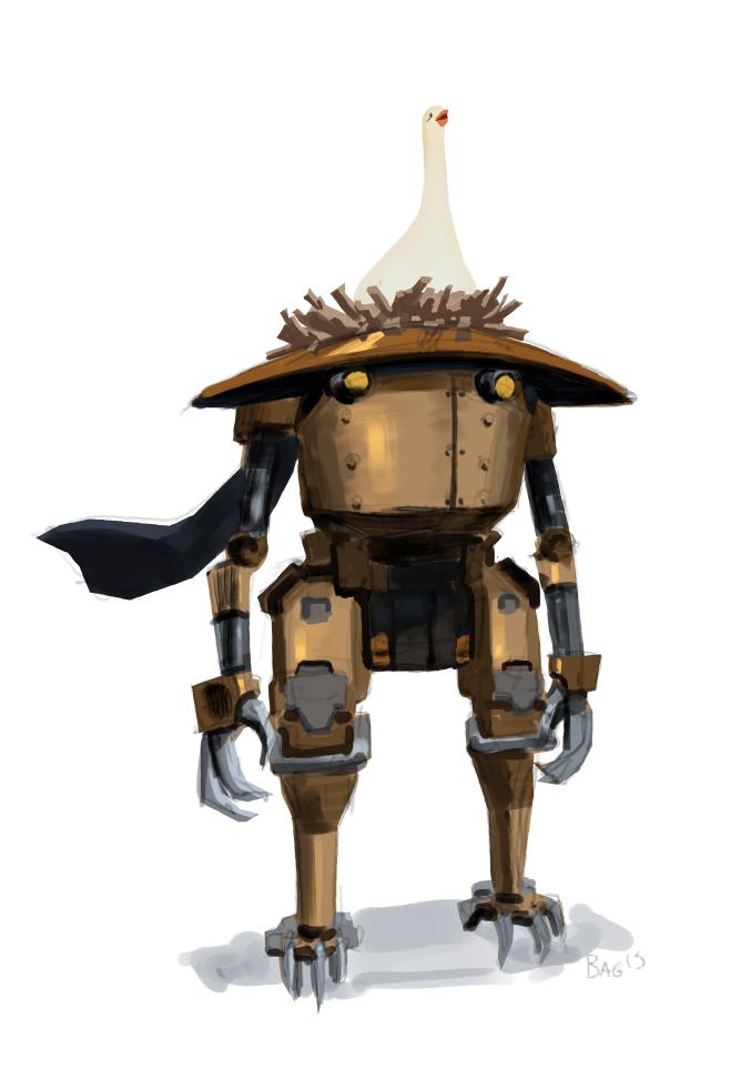 Goose n robot by onestepart
