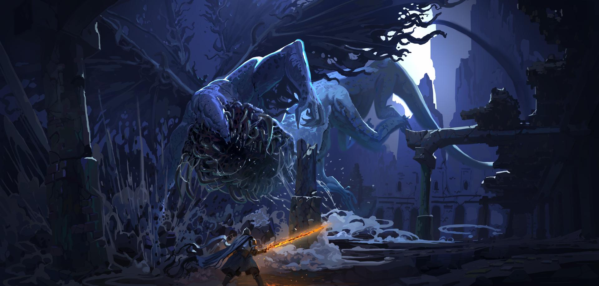 dark souls 1 gaping dragon by onestepart on deviantart
